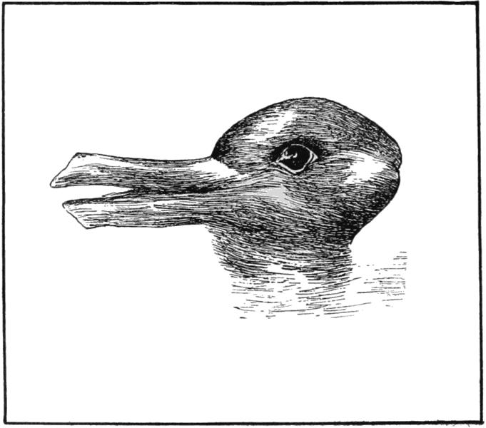 Illusion d'optique du canard-lapin faisant penser à l'ornithorynque.