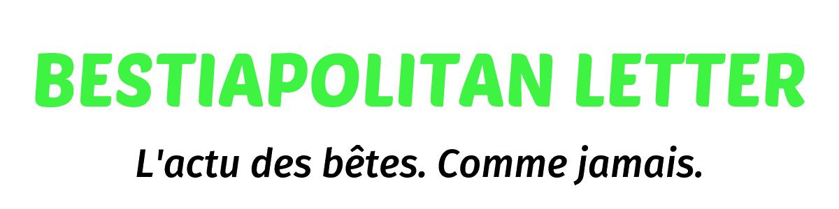 Logo de la Bestiapolitan Letter avec slogan noir.